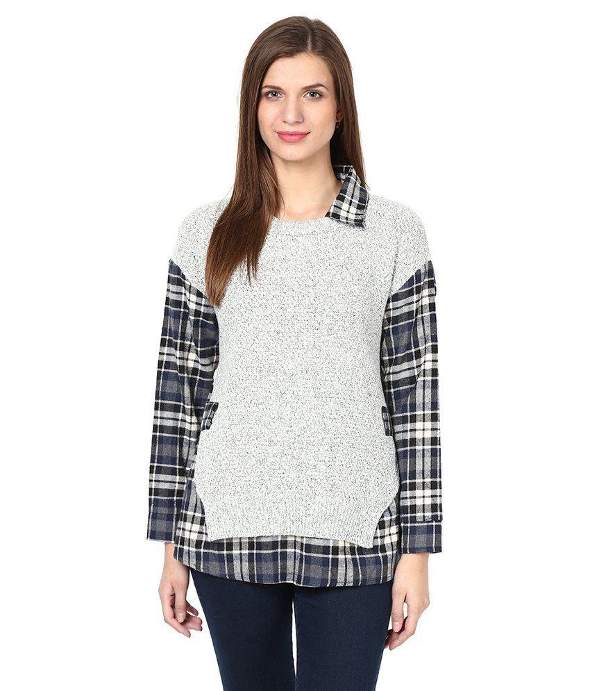Remanika Gray Regular Collar Shirts
