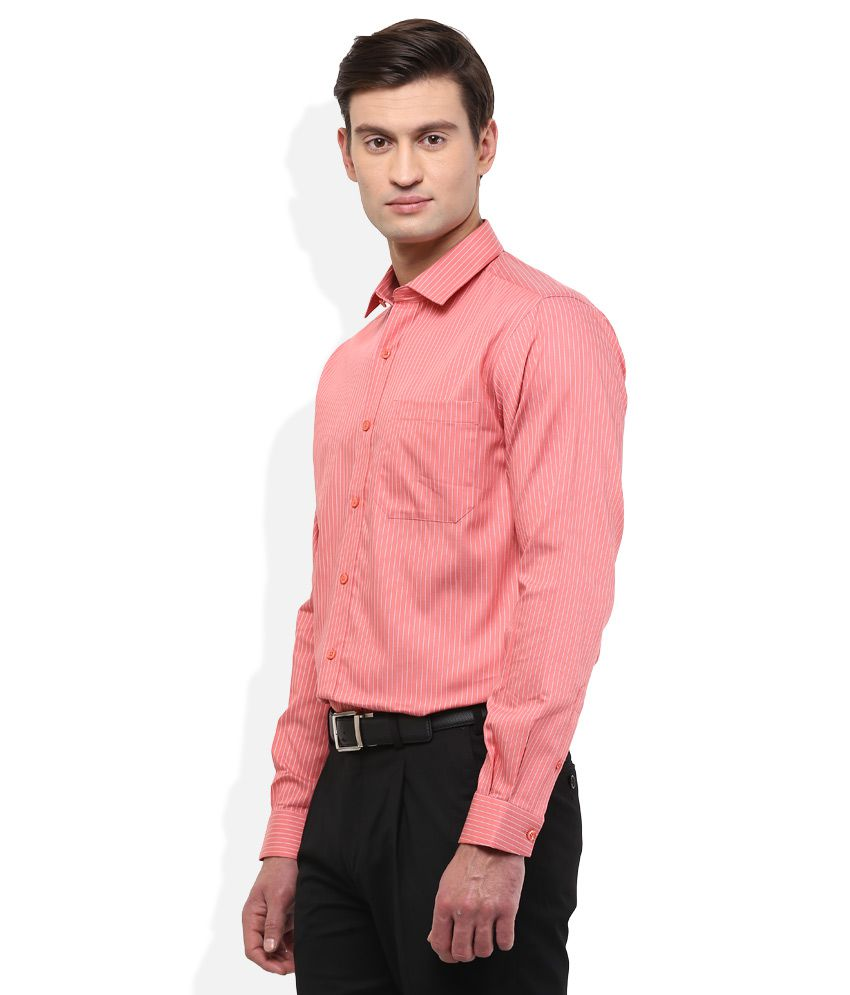 0e20c0d360 Wills Lifestyle Pink Striped Shirt - Buy Wills Lifestyle Pink ...
