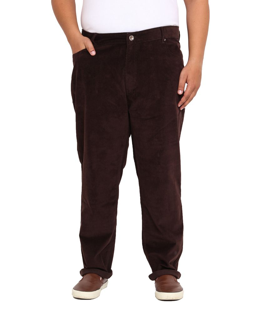 John Pride Brown Regular Fit Jeans
