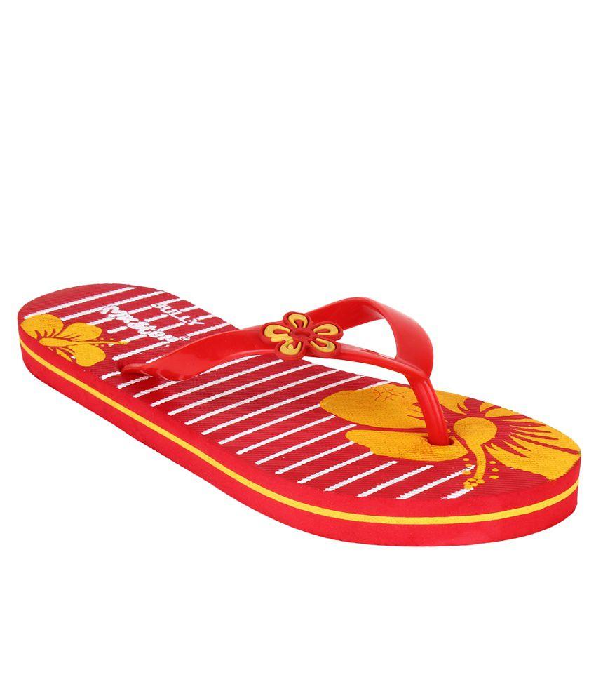 Super Matteress Red Flip Flops