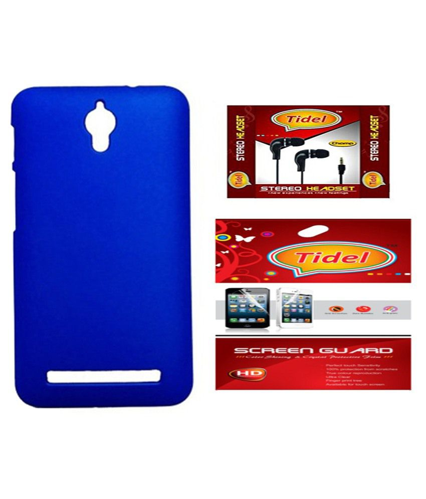 Tidel Back Cover For Asus Zenfone Go Blue Amp 35Mm