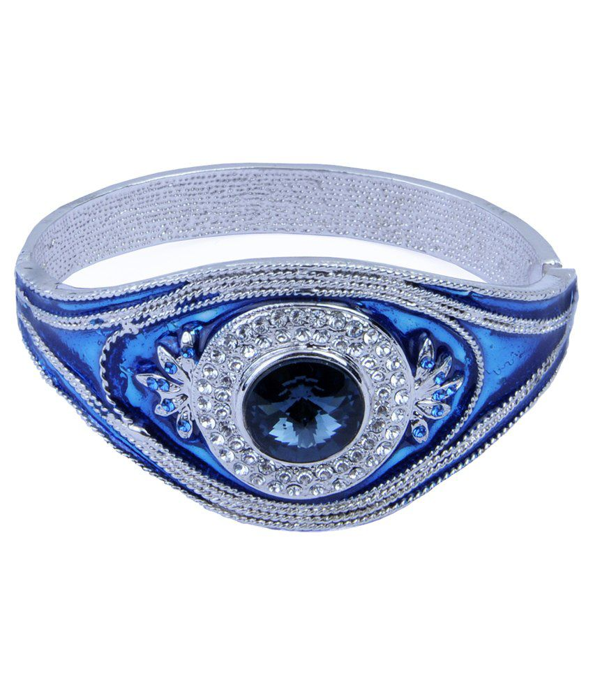 Trisha Jewels Silver Alloy Designer Bracelet with Box