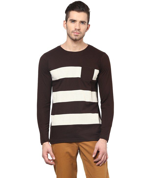 Acomharc Brown Cotton T-Shirt