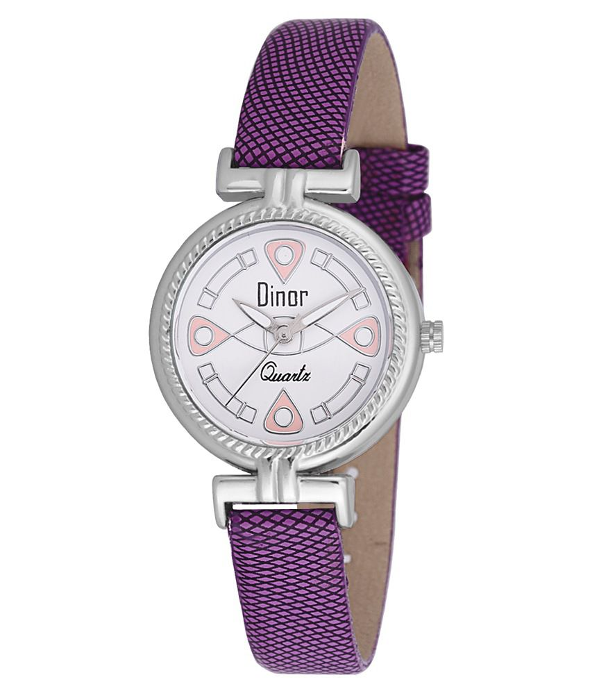Dinor Purple Analog Watch