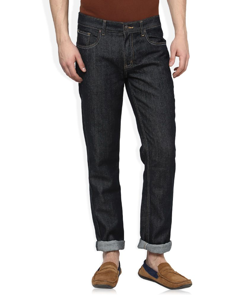 Newport Black Raw Denim Slim Fit Jeans