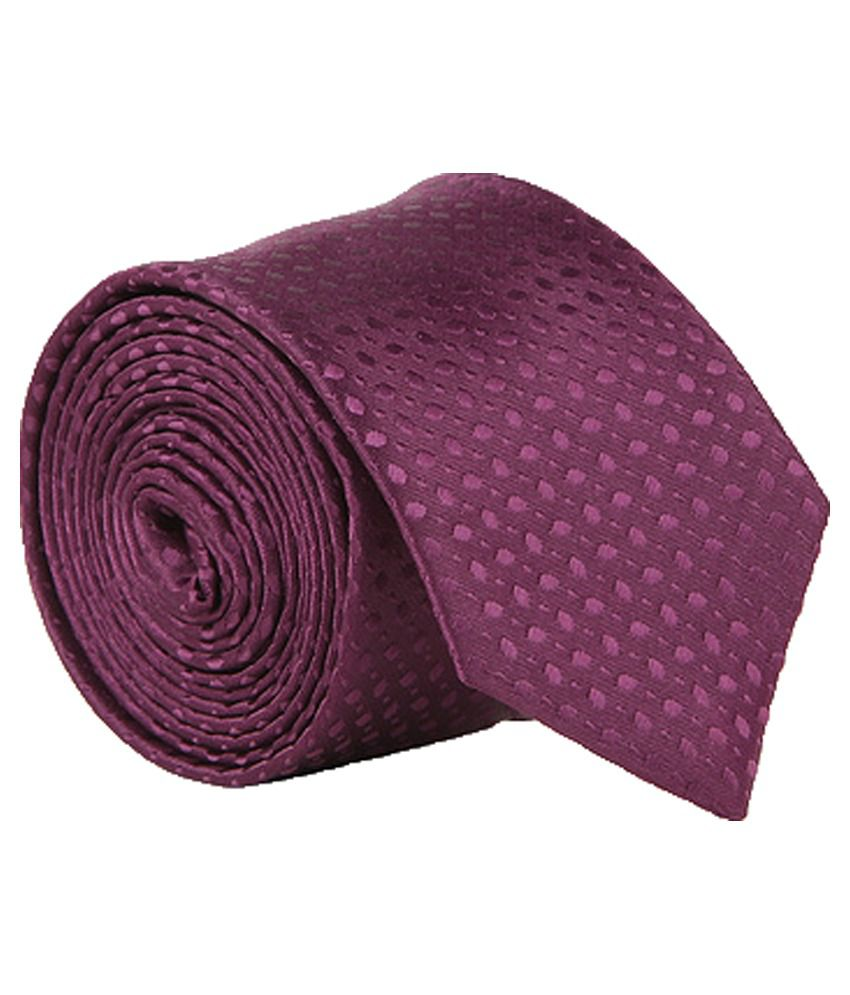 Vermello Purple Abstract Design Micro Fibre Formal Necktie