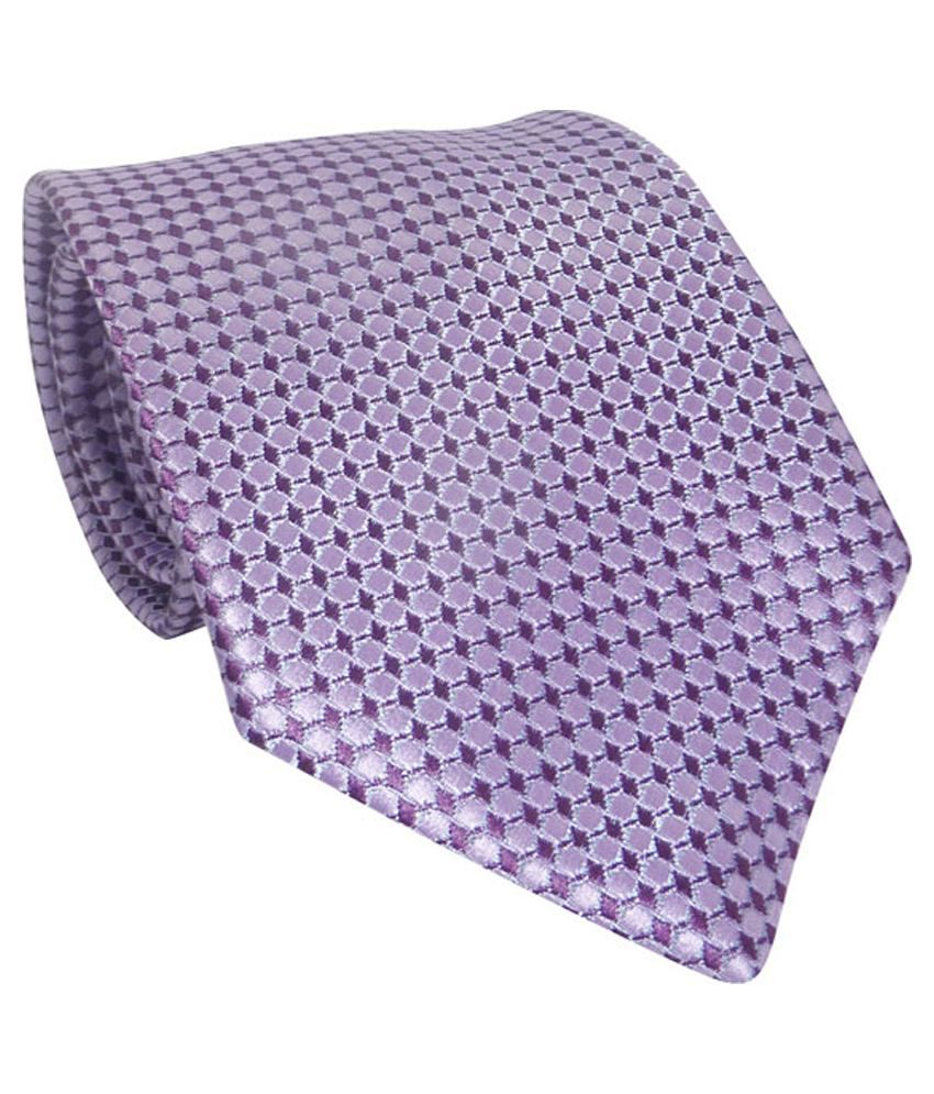 Vermello Purple Geometrical Design Micro Fibre Formal Necktie