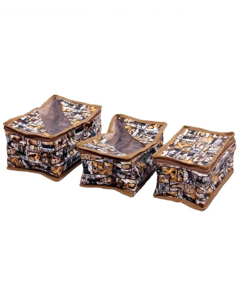 Kuber Industries Designer Jewellery Box Set Of 3