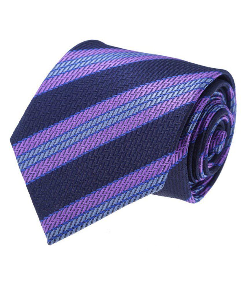 Vermello Multicolour Stripes Formal Regular Tie