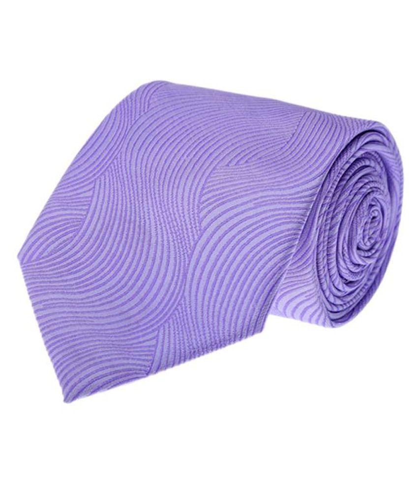 Vermello Purple Abstract Formal Regular Tie