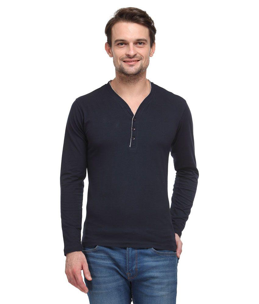 Wear Your Mind Navy Cotton T-shirt
