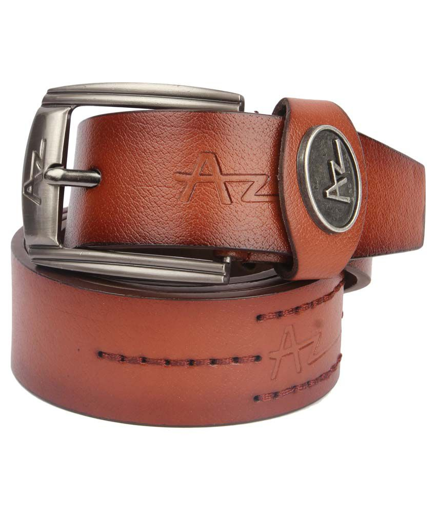 Lotus Designer Brown Leather Pin Buckle Belt