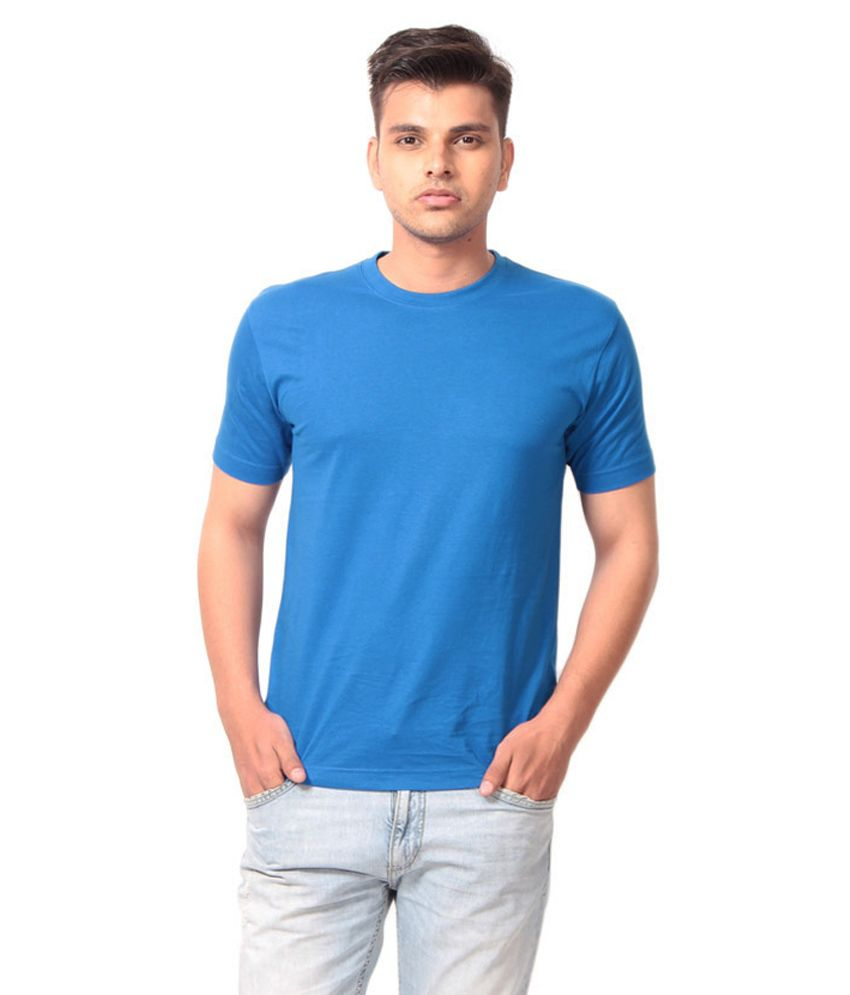 Fashion World Blue Cotton T-shirt