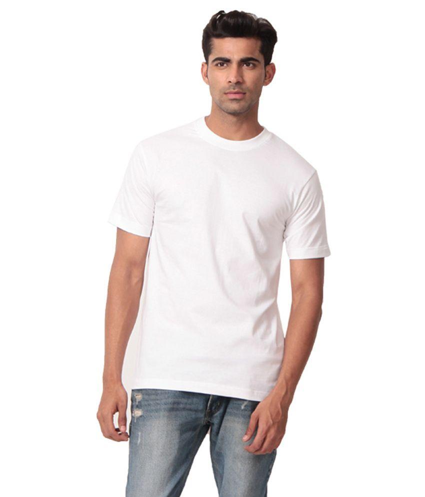 Fashion World White Cotton T-shirt