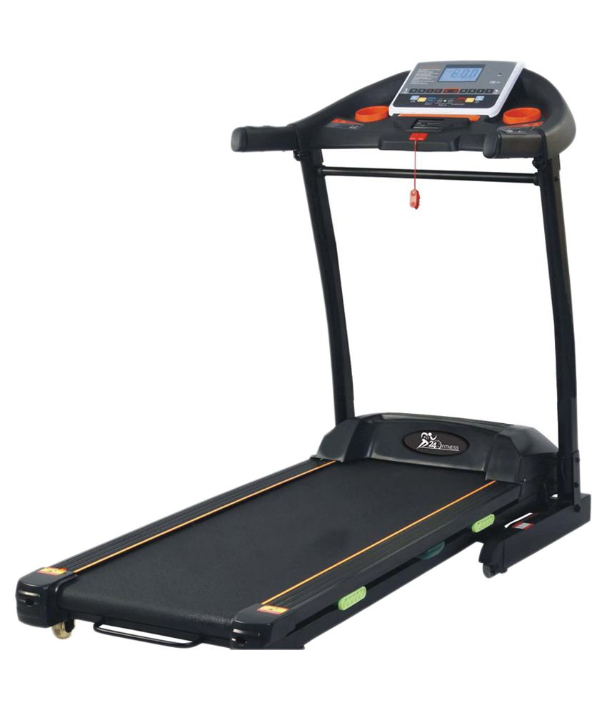 Horizon Fitness Treadmill Paragon Iii Hrc: Fit24 Fitness 5Hp(Peak) Motorized Treadmill With 15% Auto