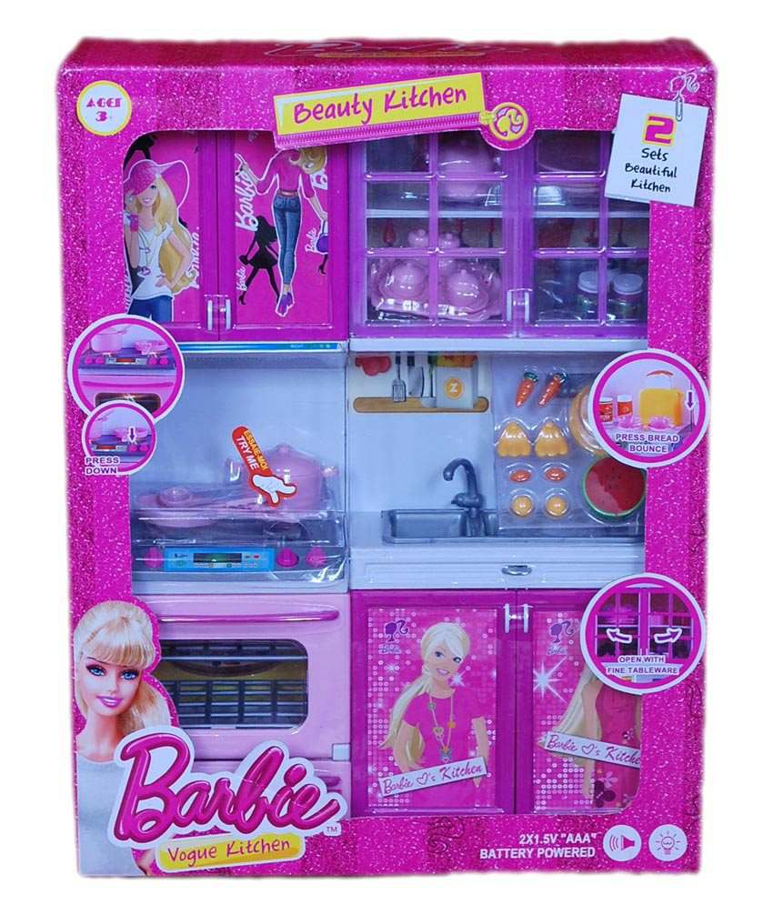 68  OFF on Real Deals Multicolor Barbie Kitchen Set. 41  OFF on Jm Barbie Doll Set With Beautiful Trendy Dresses Kids
