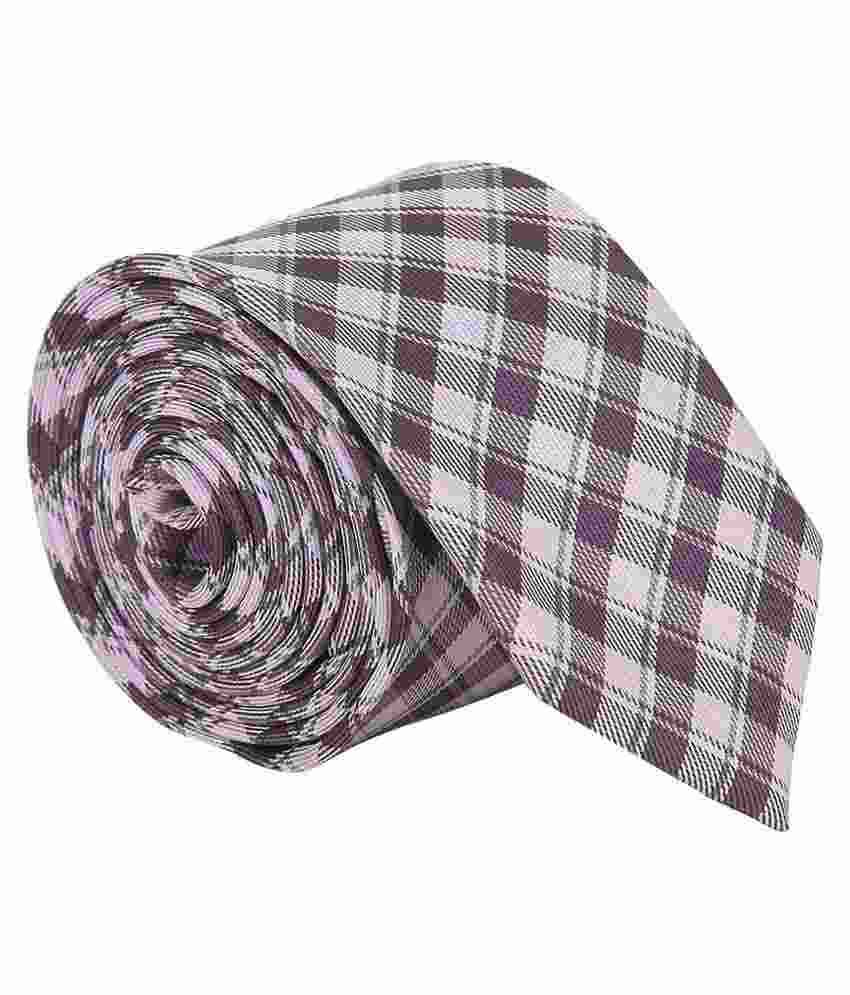 Vermello Purple Checks Formal Regular Tie