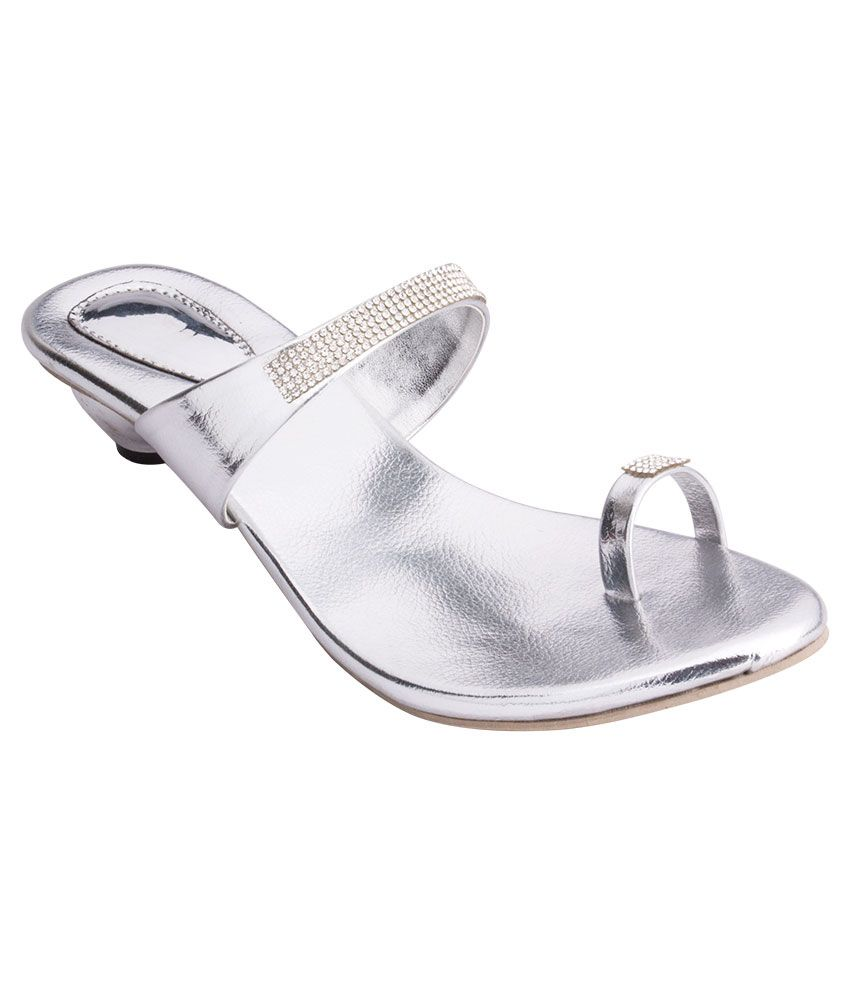 iAnna Silver Ethnic Slip-On