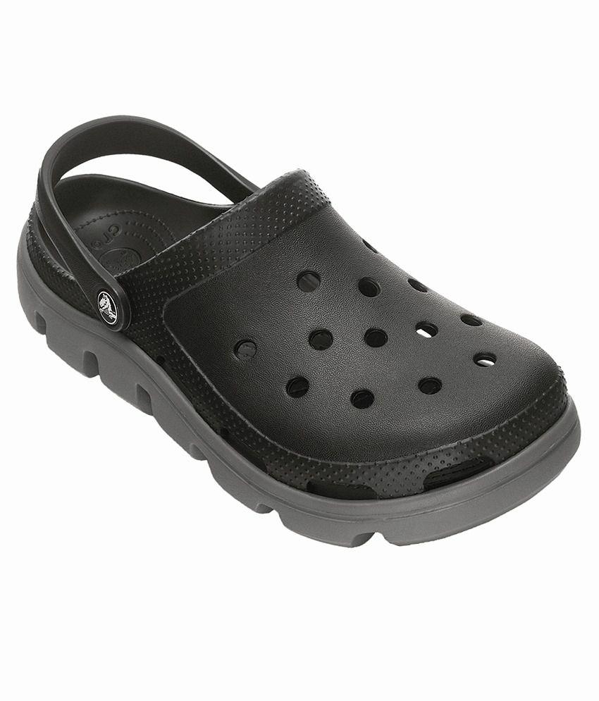 a1a83d685 Crocs Duet Black Roomy Fit Clog Shoes - Buy Crocs Duet Black Roomy ...