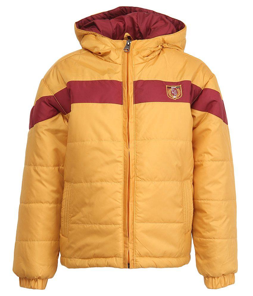 Duke Mustard Polyester Hooded Jacket
