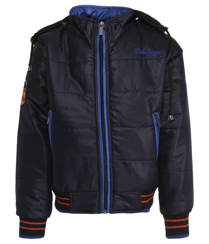 Duke Navy Polyester Hooded Jacket