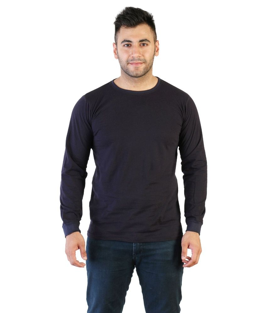 Vedika Blue Cotton T-Shirt