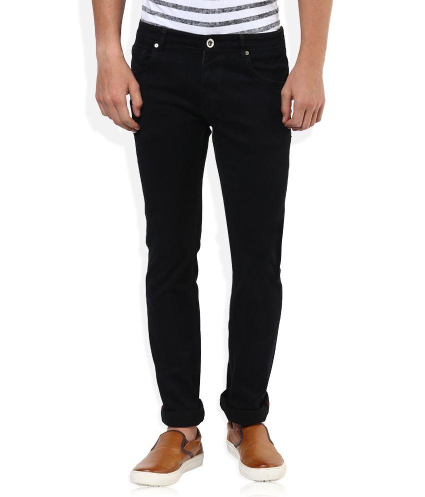 Sin Black Raw Denim Skinny Fit Jeans