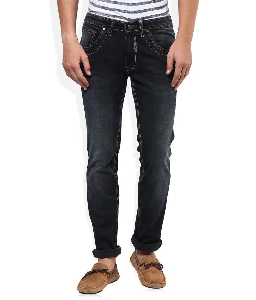 Sin Black Dark Wash Skinny Fit Jeans