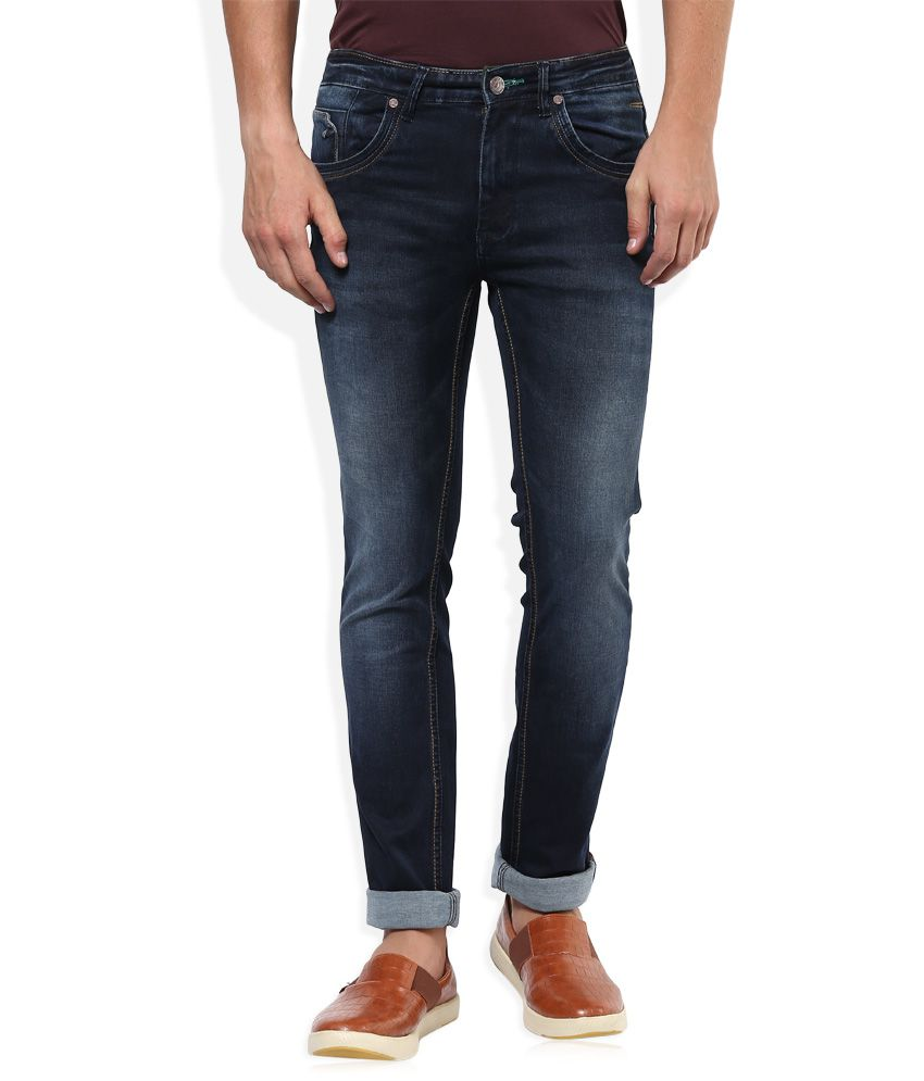 Sin Navy Medium Wash Skinny Fit Jeans
