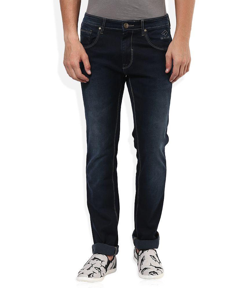 Sin Navy Dark Wash Slim Fit Jeans