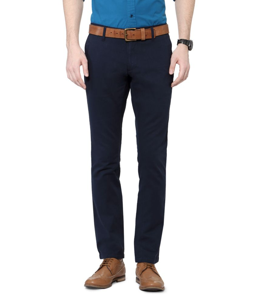 University of Oxford Navy Blended Cotton Chinos