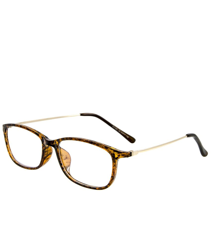 Cardon Brown Full Rim Rectangle Frame Eyeglasses available ...