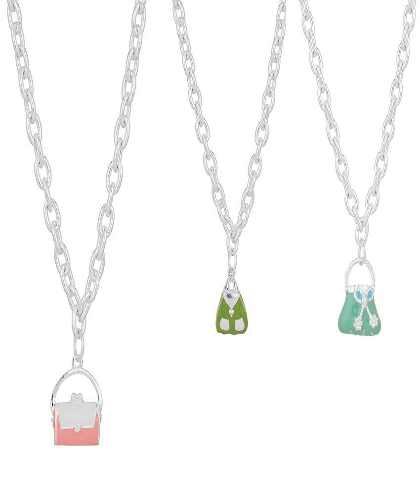 Aaradhya Multicolor Designer Wear Necklace - Pack Of 3
