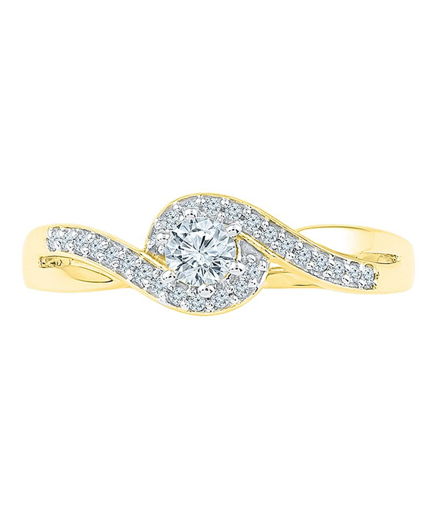 Radiant Bay 18Kt Yellow Gold Cocktail Rings Diamond Ring