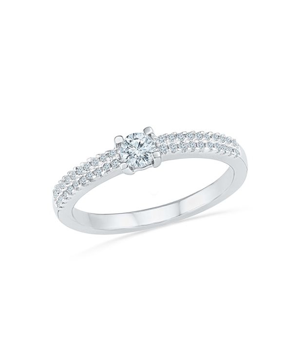 Radiant Bay White Gold 14Kt Diamond Ring