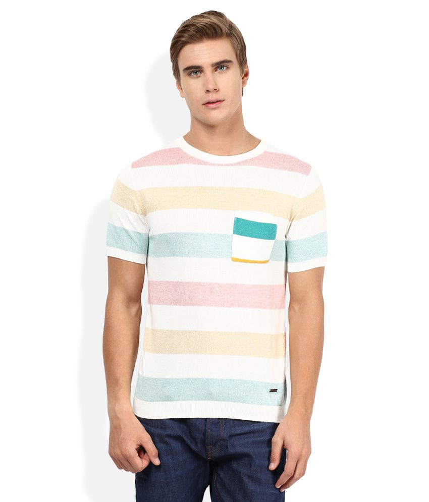 Sisley Multicolored Striped T-Shirt