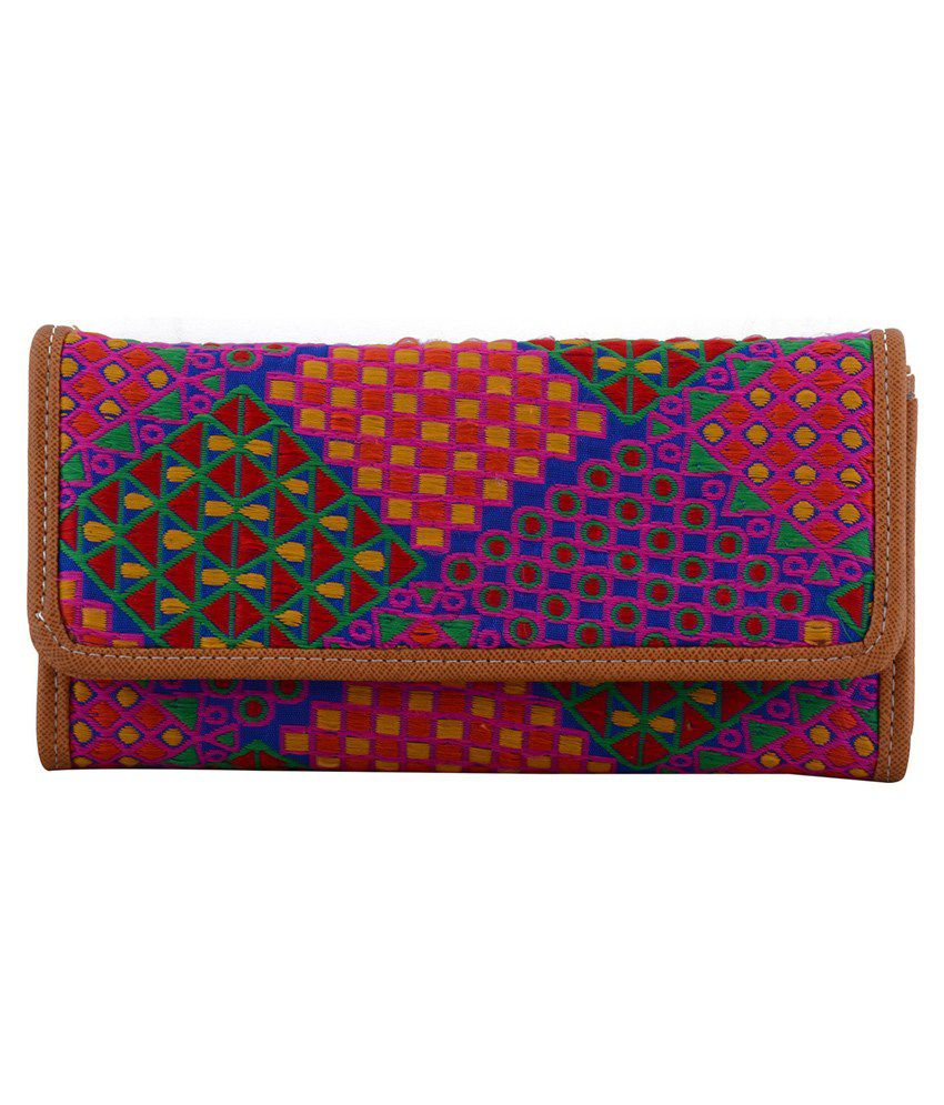 Dora Bag Mall Multicolor Leather Wallet