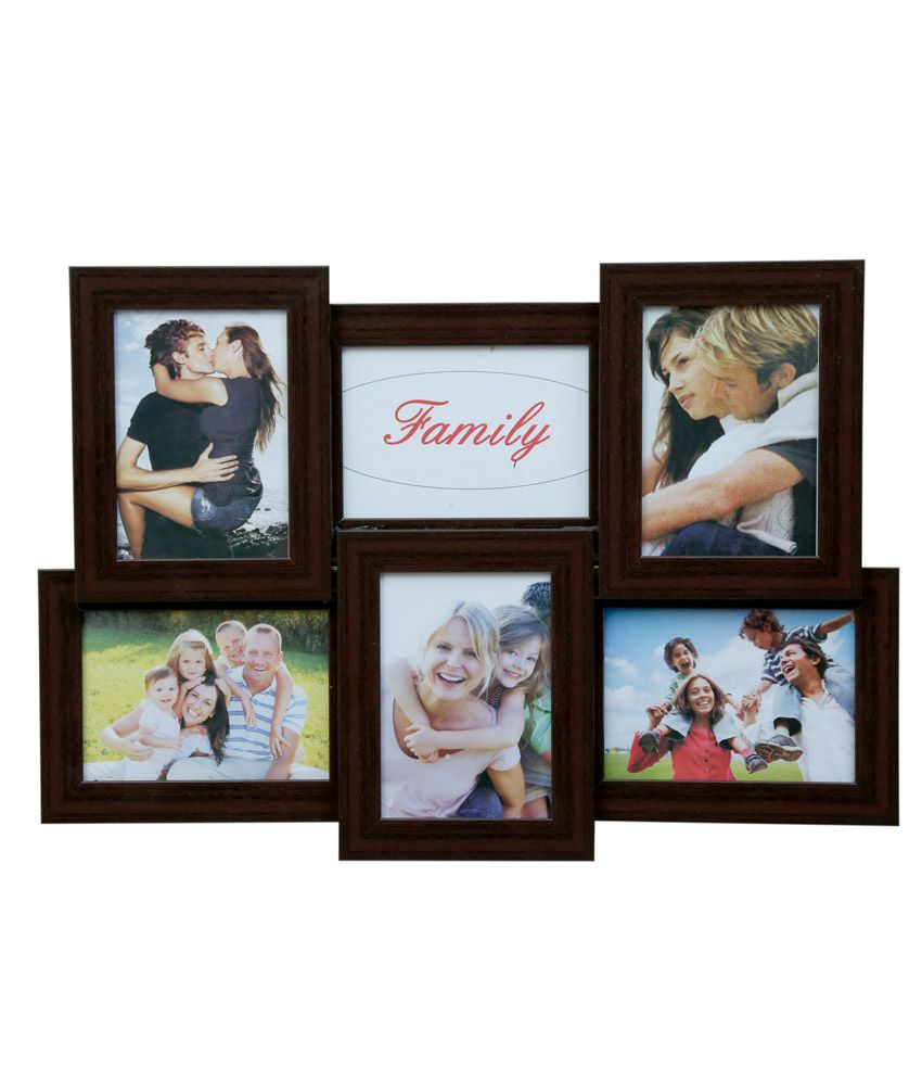 Truce Brown 6-In-1 Photo Frame - Collage Of 6 Frame-Image 5X7: Buy ...
