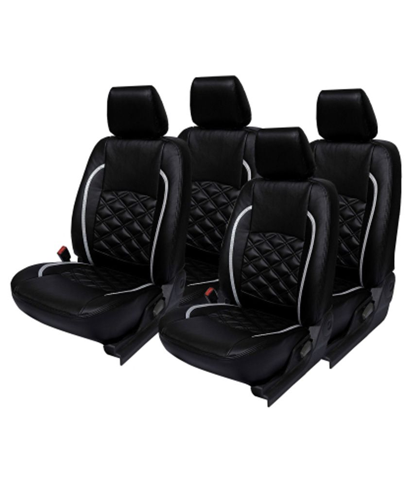 Elaxa Black Car Seat Covers For Hyundai Santro Xing