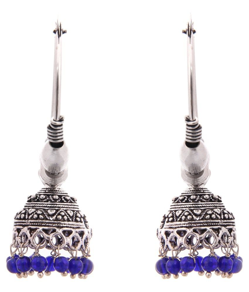 Kaizer Jewelry German Silver Jhumkis