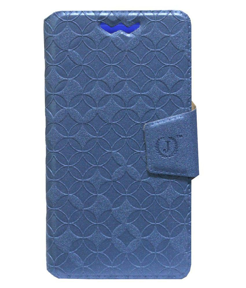 Jo Jo Flip Cover For IBall Andi 5H Quadro Exotic Blue With Silicon Holder available at SnapDeal for Rs.590