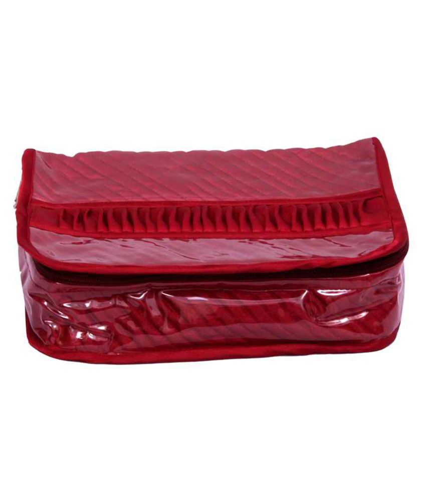 Kuber Industries Locker Jewellery Kit Maroon In Quilted Satin
