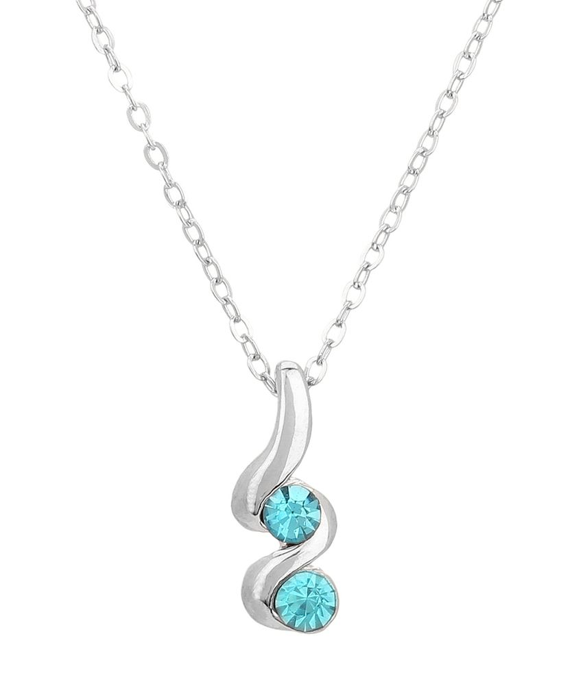Jewelizer Silver Alloy Necklace
