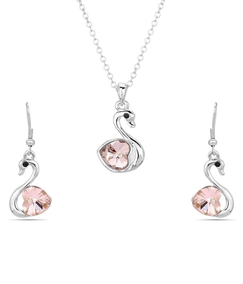 Nirosha Silver Alloy Necklace Set