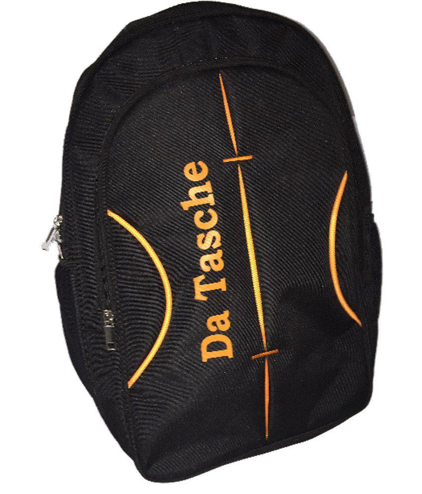 Da Tasche Black Polyester Backpack