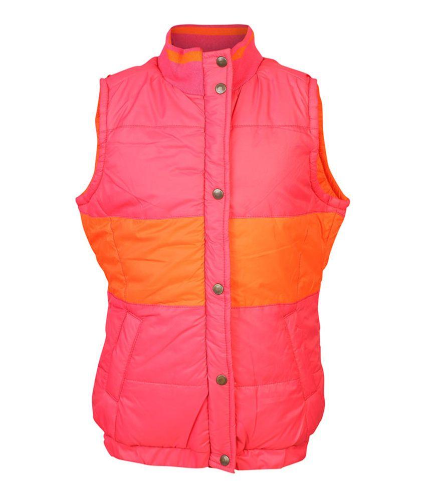 ELLO Pink Sleeveless Without Hood Reversible Jacket
