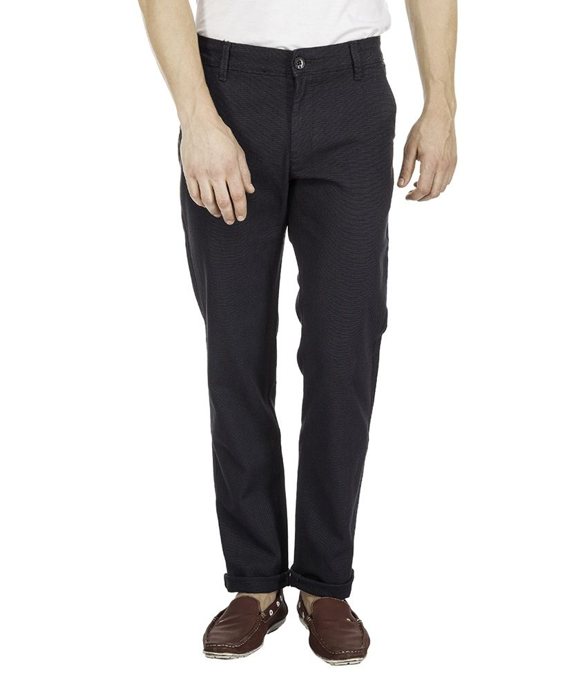 Mufti Grey Slim Chinos Trouser