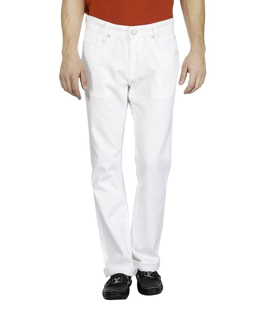 Mufti White Slim Fit Jeans
