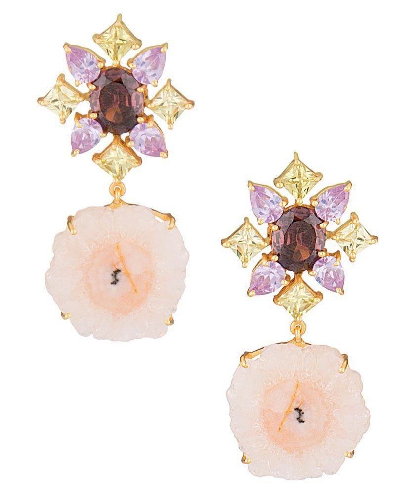 Voylla Gold Alloy Hanging Earrings