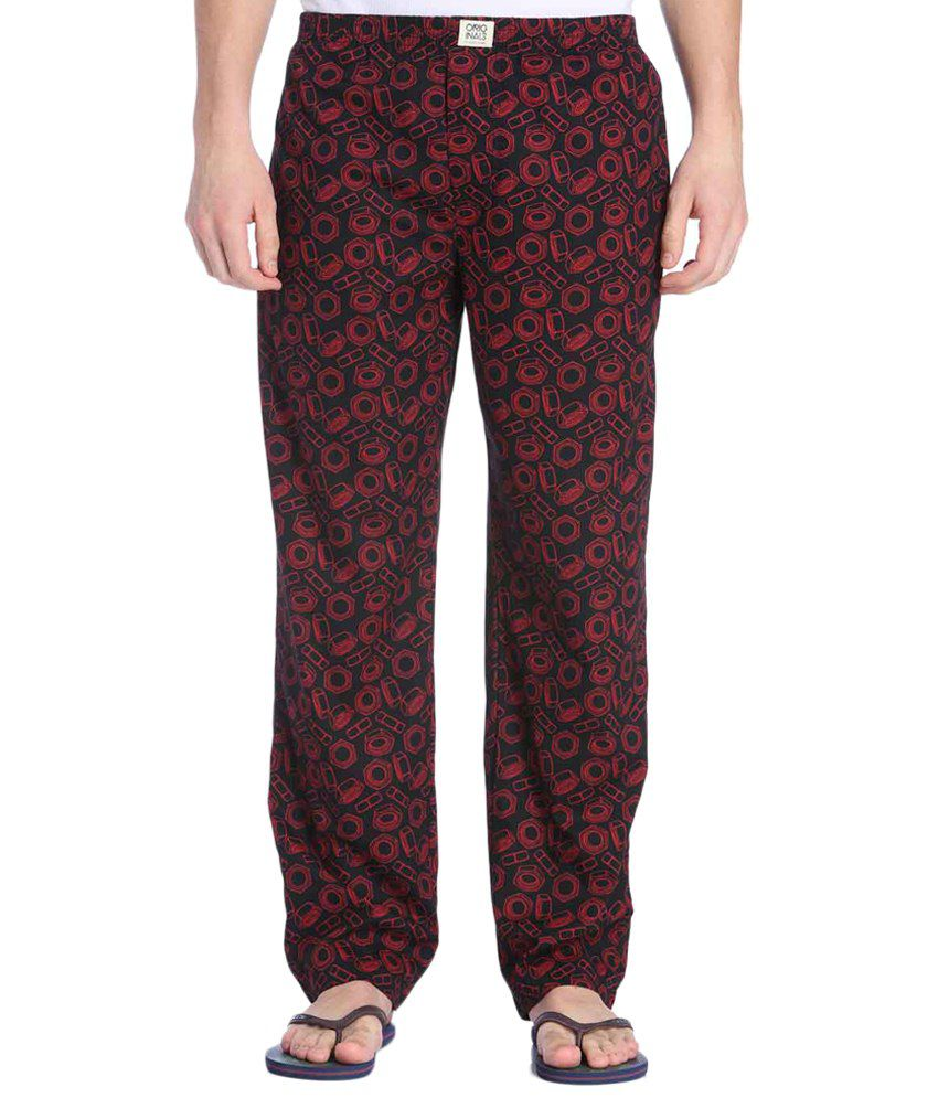 Jack & Jones Black & Red Printed Pyjamas